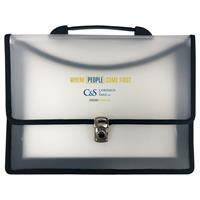 "Executive Two Pocket Carry Case with 3"" Gusset & Carry Handle"