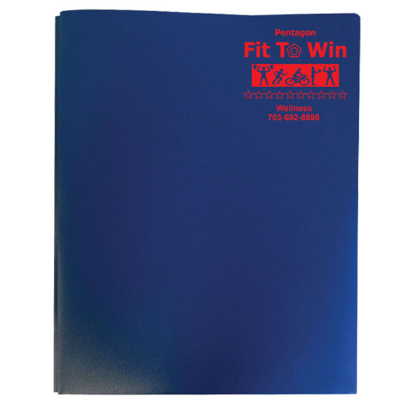 379 - Three Prong Twin Pocket Presentation Folder