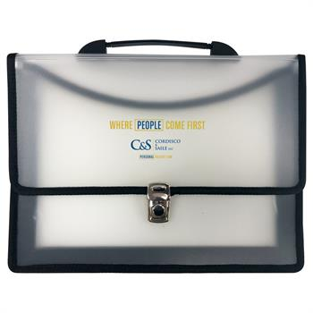 "610 - Executive Two Pocket Carry Case with 3"" Gusset & Carry Handle"