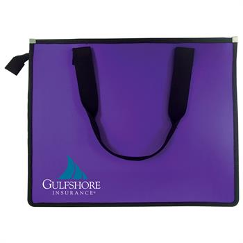 803 - Poly Zipper Carry Bag with Inside Zip Pocket